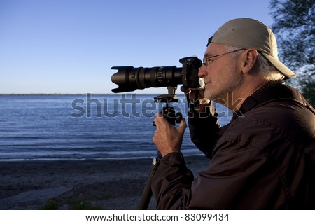 Nature or Bird Photographer - stock photo