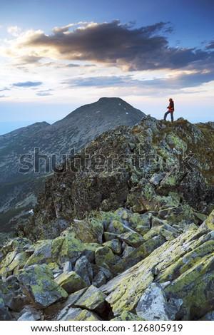 Nature photographer - stock photo