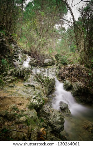 Nature photography on the environment Riopar in Albacete (Spain)