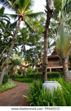 Nature Resort in Thailand. - stock photo