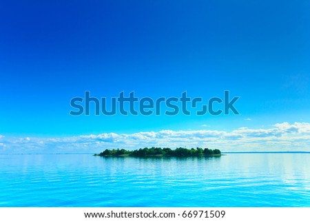 Nature Resort Wallpaper - stock photo