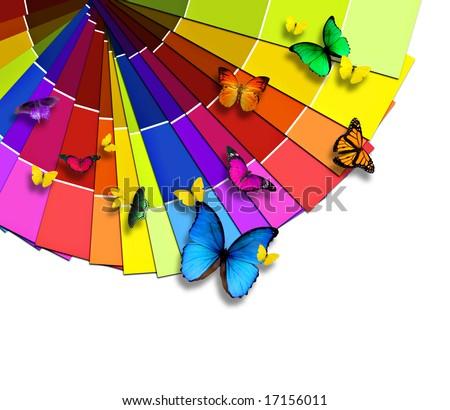 Nature's color palette - stock photo