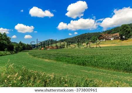 Nature. The countryside in Germany. - stock photo