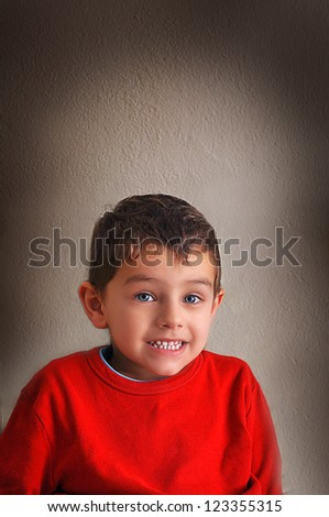 naughty boy - stock photo