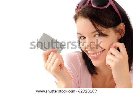 Naughty online shopper - stock photo