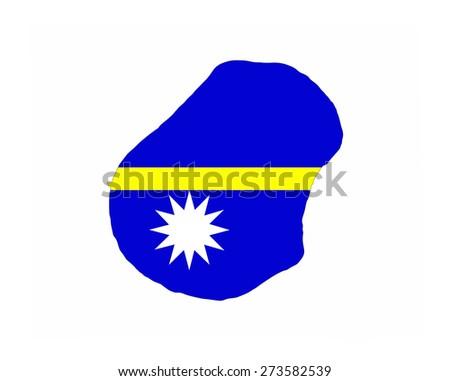 nauru country flag map shape national symbol - stock photo