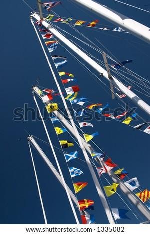 Nautical Flags - stock photo
