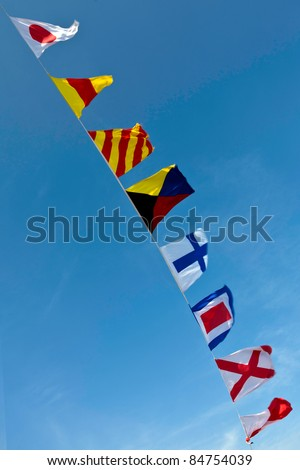 Nautical Flags Colorful Nautical Flags Flying