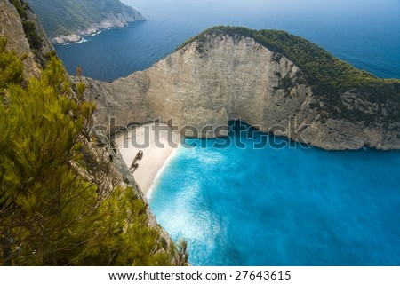 Navagio Bay Shipwreck / Zakynthos - stock photo
