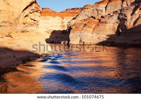 Navajo Generating Station Entrance Antelope Canyon Lake Powell Glen Canyon Recreation Area Page Arizona - stock photo
