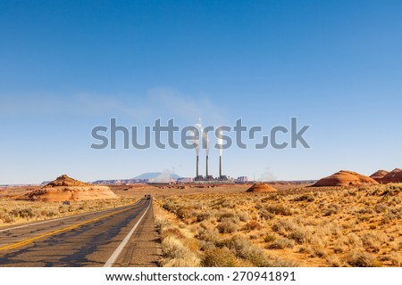 Navajo Power Plant, Page AZ - stock photo