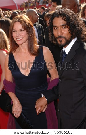 Naveen Andrews Wife Name Naveen andrews & barbara hershey at the 57th annual primetime emmy awards in