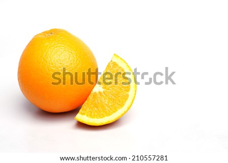 navel orange on isolated background                        - stock photo
