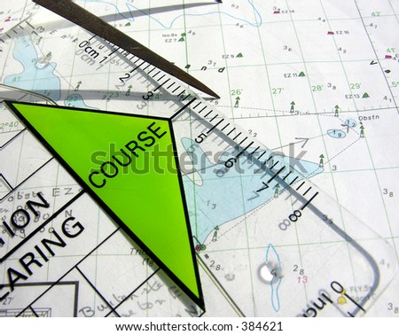 navigation course - stock photo