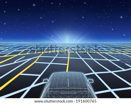 Navigation System - stock photo