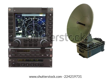 navigator under the white background - stock photo