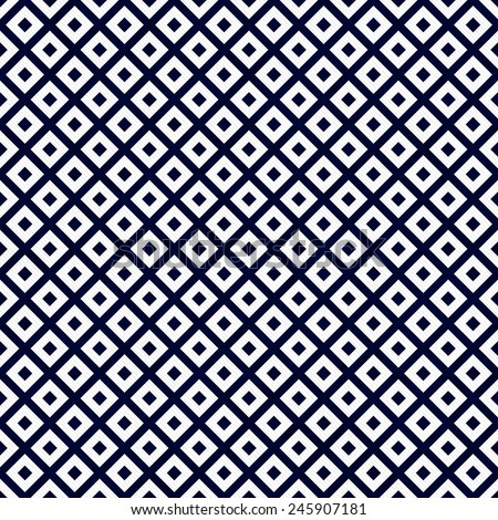 Navy Blue and White Diagonal Squares Tiles Pattern Repeat Background that is seamless and repeats