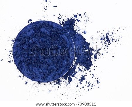navy blue eyeshadow - stock photo