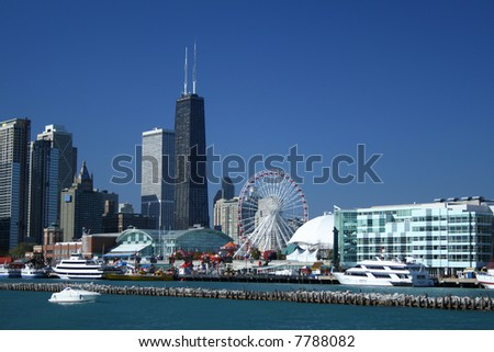 Navy Pier Chicago - stock photo
