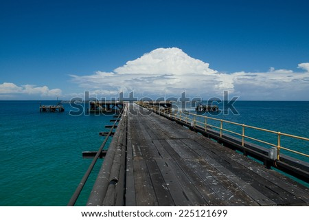 Navy Pier Exmouth Western Australia - stock photo