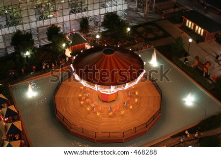 Navy Pier swing from above - stock photo