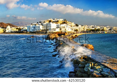 Naxos island (from my greek series) - stock photo