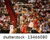 NBA - Miami Heat Vs. Houston Rocket - stock photo