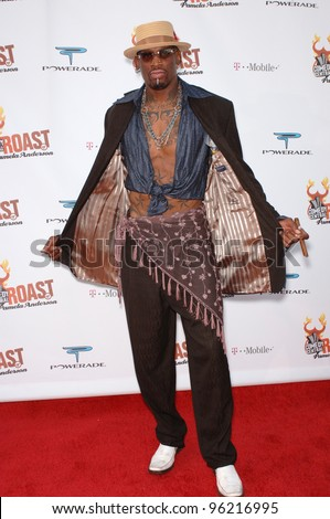 """NBA star DENNIS RODMAN at """"Comedy Central's Roast of Pamela Anderson"""" at Sony Studios, Culver City. August 7, 2005 Culver City, CA  2005 Paul Smith / Featureflash - stock photo"""