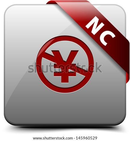 NC (JP)  button - stock photo