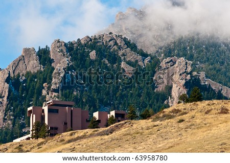 NCAR - Nation Center for Atmospheric Research - stock photo