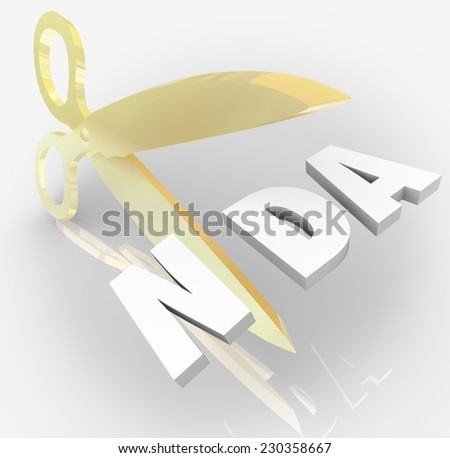 Nda nondisclosure agreement 3d letters acronym stock illustration nda non disclosure agreement 3d letters in an acronym cut by scissors to illustrate violation platinumwayz