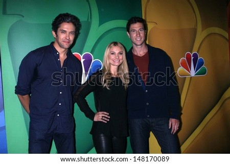 Spencer grammer stock images royalty free images vectors neal bledsoe spencer grammer and pablo schreiber at the nbc press tour beverly hilton sciox Choice Image