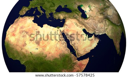 Near East and North Africa - stock photo
