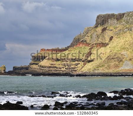 Near Giant's Causeway, County Antrim, Northern Ireland - stock photo