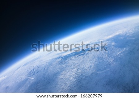 Near Space photography - 22km above ground / real photo - stock photo