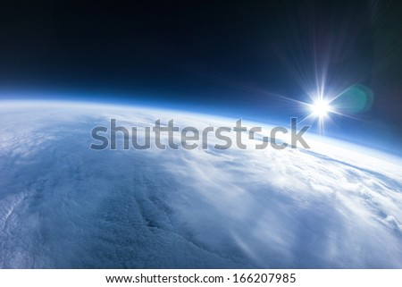 Near Space photography - 22km above ground / real photo