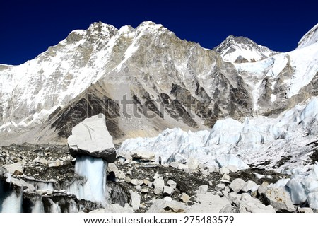 Nearby the Everest Base Camp - stock photo