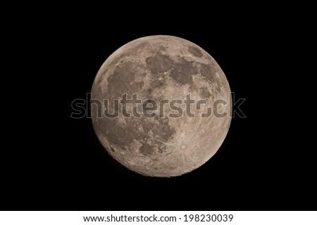 Nearly Full Moon - stock photo