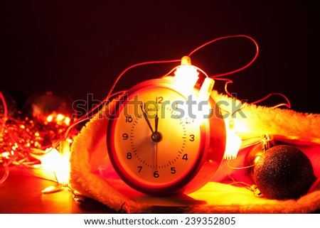 Nearly Twelve O'clock Midnight,New Year Concept. - stock photo