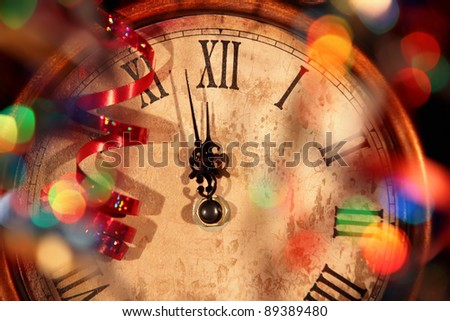 Nearly Twelve O'clock Midnight,New Year Concept. - stock photo