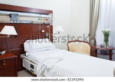 Neat and tidy hospital room - stock photo