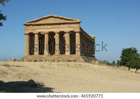 Neat the town of Agrigento, Sicily Is the Valley of the Temples dating back to the Greeks who inhabited the area. This temple is particularly well preserved