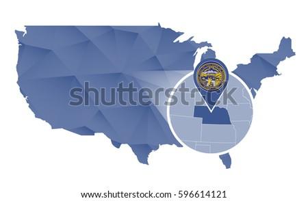 Lincoln Ne Stock Images RoyaltyFree Images Vectors Shutterstock - Nebraska usa map
