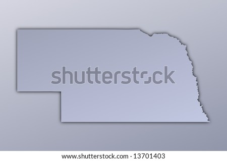 Where Is Nebraska Location Of Nebraska Political Map Of United - Nebraska on the us map