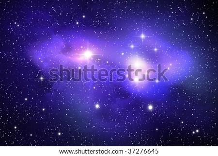 Nebula ( abstract background ) - stock photo
