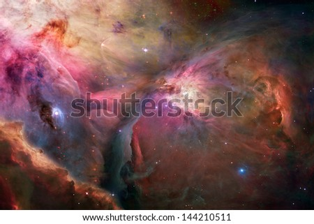 nebula and stars in the space - stock photo