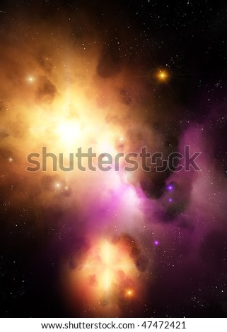 Nebula and supernova - stock photo