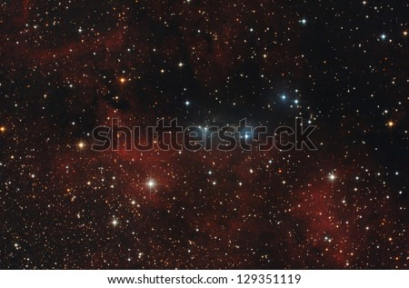 nebula in the sky - stock photo
