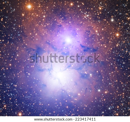 Nebula in the zodiacal constellation of the Archer. - stock photo