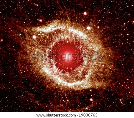 Nebula - Scary Space Eye - stock photo